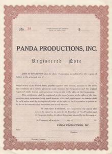 Panda Productions 1950's