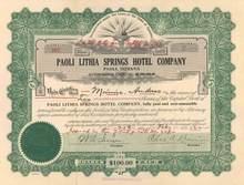 Paoli Lithia Springs Hotel Company 1922 - Paoli, Indiana