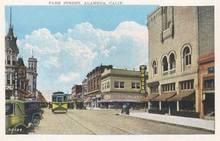 Park Street, Alameda, California Postcard