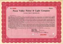 Pecos Valley Power & Light Company