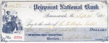Pejepscot National Bank - Brunswick, Maine 1887
