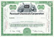 Pennsalt (ATOFINA )Chemical Corporation Stock Certificate