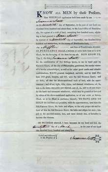 Pennsylvania Land Deed Issued to George Eddy 1795