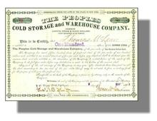 Peoples Cold Storage and Warehouse Company 1888 - New York