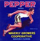 Pepper Crate Label - Waverly, Florida