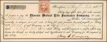 Phoenix Mutual Life Insurance Note - 1863-1873