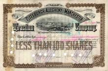 Pittsburgh, Allegheny and Manchester Traction Company 1892
