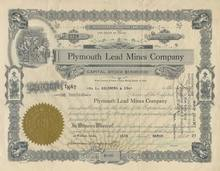 Plymouth Lead Mines Company 1927