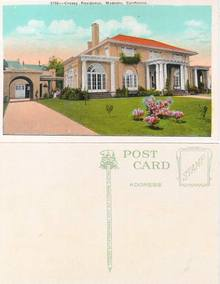 Postcard from the Cressy Residence, Modesto, California