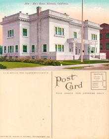 Postcard from Elk's Home, Alameda, California