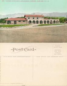 Postcard from the Southern Pacific Depot, Santa Barbara, California. Coast Line S.P.R.R.