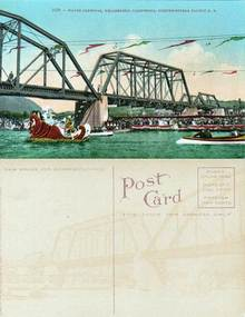 Postcard from the Water Carnival, Healdsburg, California, Northwestern Pacific R.R.