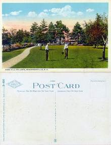 Postcard of the Park Hill Inn Lawn, Hendersonville, N.C.