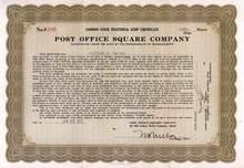 Post Office Square Company 1937 - Massachusettes