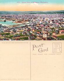 Postcard with a General view of Bellingham, Washington 1915