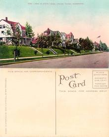 Postcard with a view of North Yakima Avenue Tacoma, Washington