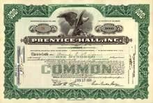 Prentice - Hall, Inc. 1930's - Founder Richard Prentice Ettinger as President