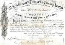 Prince's Racquet & Tennis Club Company - 1871