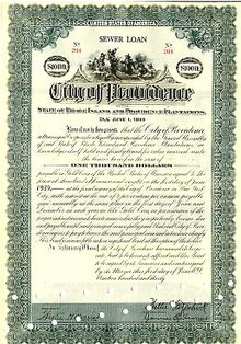 City of Providence Gold Bond 1929