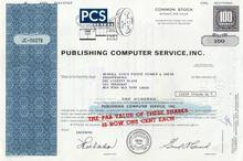 Publishing Computer Services, Inc (PCS) - Old Computer Vignette