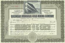 Quesnelle Hydraulic Gold Mining Company 1910
