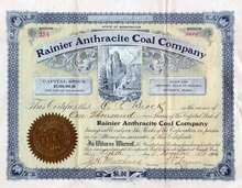 Rainier Anthracite Coal Company 1906 - Washington State