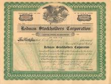 Redman Stockholders Corporation 1912 Arizona Mines, McCabe, Arizona (Yapavai County)