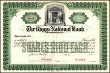 Riggs National Bank Stock Certificate - Washington DC
