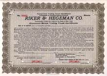 Riker & Hegeman Co. ( Early Drug Store Company ) - New York