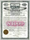 Rochester Water Company - Tax Free Gold Bond 1888