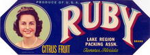 Ruby Citrus Fruit Label