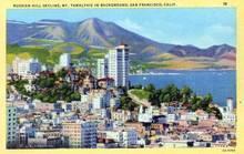 Russian Hill Skyline, Mt. Tamalpais in Background - San Francisco, California