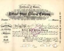 Rutland Street Railway Company 1903 - Vermont