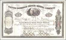 Santo Domingo Silver Mining Company 1870s