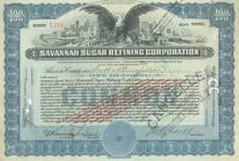 Savannah Sugar Refining Corporation 1920
