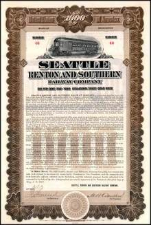 Seattle Renton and Southern Railway Company 1911 - Washington