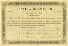 Seaview Golf Club 1920 - New Jersey