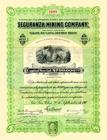 Seguranza Mining Company 1910 (San Luis Potosi)