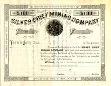 Silver Chief Mining Company 1880's