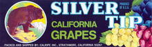 Silver Tip California Grapes Label
