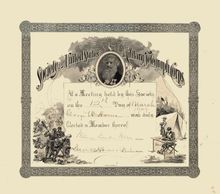 Society of United States Miltary Telegraph Company - Samuel Morse Vignette