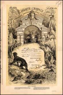 Societe Royale De Zoolocie D Horticulture Et d' Agrement - Belgium 1878