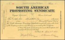 South American Promoting Syndicate 1897 - West Virginia