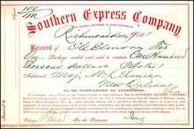 Southern Express Company 1861 - $100,000 Confederate Cash Transfer from CSA Treasurer