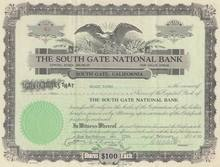 South Gate National Bank 1930 - California