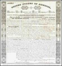 Southern Life Insurance and Trust Company of Florida Territory 1839 signed by Governor