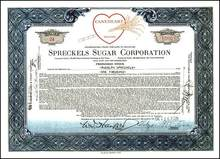 Spreckels Sugar Corporation 1929