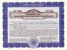 Stardust Hotel of Las Vegas, Nevada -Trustees Participation Certificate 1958