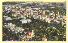 State Capitol Group and Business District - Sacramento, California