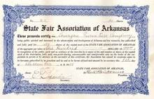 State Fair Association of Arkansas 1925